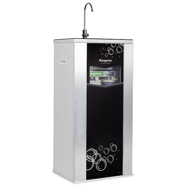 Máy lọc nước Hydrogen Kangaroo RO 9 lõi vỏ tủ VTU màu đen KG100HA