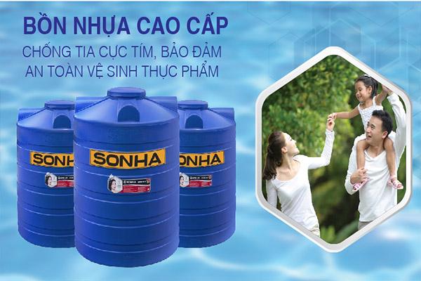 Bồn nhựa Sơn Hà 300L đứng - Sản phẩm của chất lượng của mọi nhà