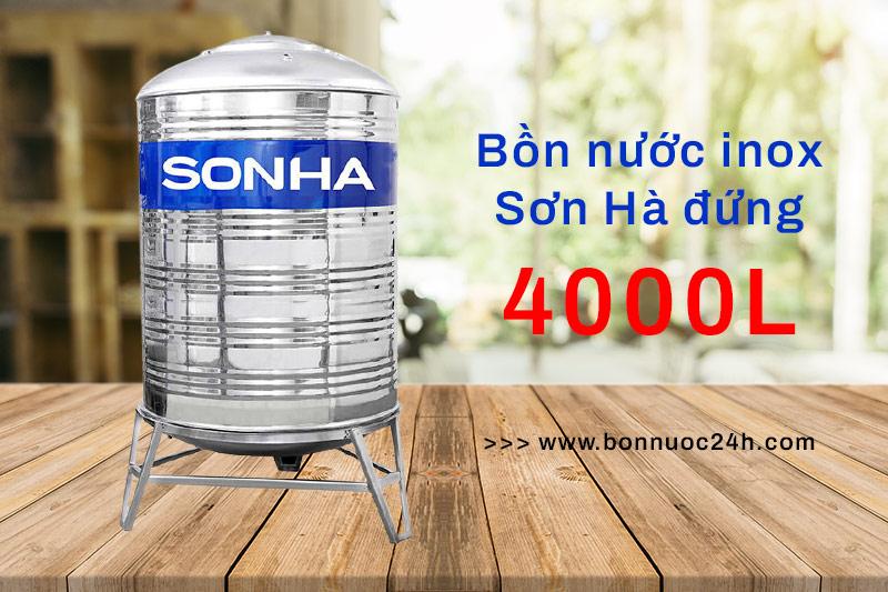Bồn nước inox Sơn Hà 4000L đứng
