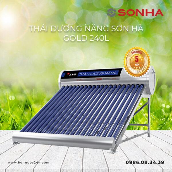 Máy nước nóng năng lượng mặt trời Sơn Hà Gold 240L