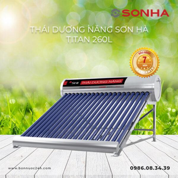 Máy nước nóng năng lượng mặt trời Sơn Hà Titan 260L