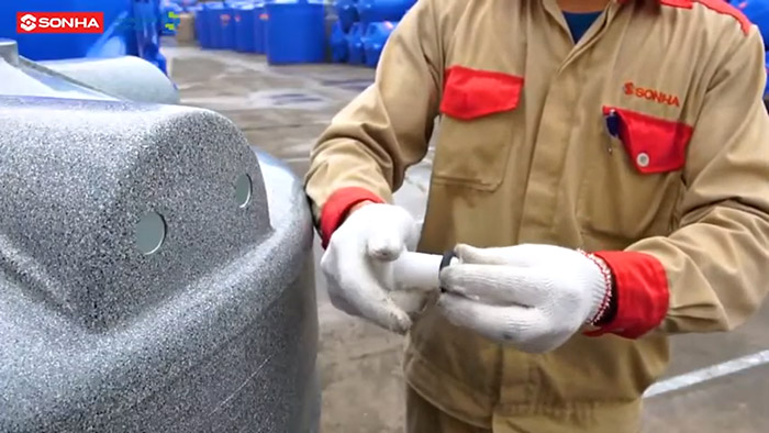 Cách lắp đặt bồn nhựa Sơn Hà - B2