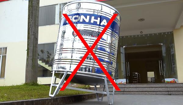 Lắp đặt bồn nước sai cách