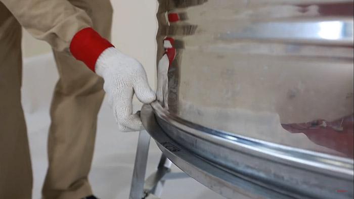 Lắp đặt bồn nước Sơn Hà đứng - B5