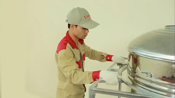 Lắp đặt bồn nước Sơn Hà ngang - B2